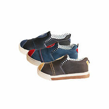 NEW BOYS GIRLS CHILDREN SLIP ON CASUAL PUMPS SPORTS TRAINERS SHOES SIZE 4-8