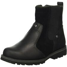 Timberland Asphalt Trail Youth Black Leather Chelsea Boots