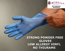 STRONG VINYL GLOVES BLUE,CATERING,HEALTH CARE,DISPOSABLE,POWDER & LATEX FREE