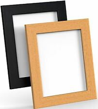 BLACK WHITE OAK PICTURE FRAME POSTER PHOTO FRAME WOODEN EFFECT VARIOUS SIZES