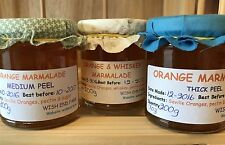Raspberry Jam, Orange Marmalade, Chutney. Raspberry, Ginger Marmalade, Apple