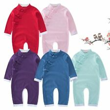 Baby Toddler Boy Girl Chinese Costume One Piece Romper Suit Outfit Clothes 3M-3T
