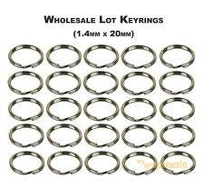 "Split Key Rings 3/4"" Keychain Key Holder Locksmith (1.4mm x 20mm) Wholesale Lots"