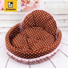 Pet Dog Cat Circular House Kennel Puppy Lace Nest Beds Bed Washable Arc Warm New