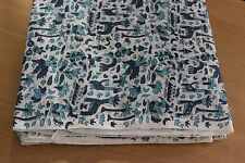 5 or 10 Yards Indigo print 100% cotton fabric hand block print fabric bird print