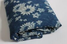 block print fabric Yards Natura l100% cotton fabric hand indigo print blue color