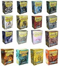 100 Count Dragon Shield Standard Size Protective Card Sleeves Assorted Colors