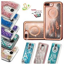 For Apple iPhone 7 /8 Plus Glitter Shine HYBRID Hard Protector Rubber Case Cover