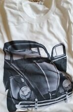 New Men's Silver White Volkswagen VW Black Bug Tee T Shirt L Large Extra XL 2XL