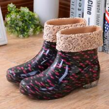 All seasons rain shoes Lined pull on Galoshes womens rainboots Ankle Rain Boots