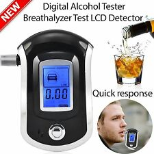 Analyzer Police Digital Breath Alcohol Tester Breathalyzer Mouthpieces New AU