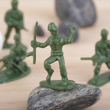 100pcs/Pack Military Plastic Toy Soldiers Army Men Figures 12 Poses Gift AU