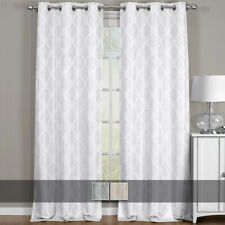 Paisley Blackout Jacquard Textured Thermal Insulated Grommet Top Curtain (Pair)