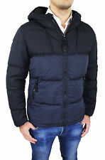 MENS QUILTED JACKET STONE ISLAND art 591541923 BICOLOUR BLACK NAVY BLUE