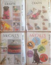 McCall's 5776, 6218, 6455, 7303 Dog Clothes, Beds, Toys  You Pick  NEW