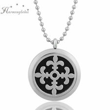 """Iris"" Fragrance Aromatherapy Diffuser Necklaces Hollow Essential Oils Pendants"