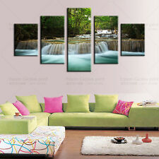 """HUGE MODERN ABSTRACT HOME DECOR ART OIL PAINTING ON CANVAS-Waterfall """"NO FRAME"""""""