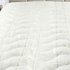 King Size Plush Bamboo Jacquard Mattress Pad Super Soft & Cool To The Touch
