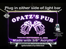 Lighted Bar Sign, Personalized LED Man Cave Sign- Garage Sign, Beer Mugs