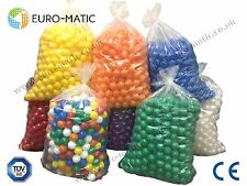 500 Euro-matic Soft Playpen, Play, Pit, Pool Balls - COMMERCIAL GRADE 75mm