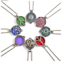 New 1pc Aroma Diffuser Necklace Antique Vintage Locket Pendant Perfume With Mats