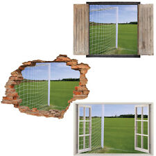 Window Wall Sticker Decal Vinyl 3D Football Soccer Kids Sport home art room deco