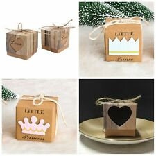 50Pcs Anniversary Supply Party Favour Boxes Brown Kraft Paper Candy Gift Bags