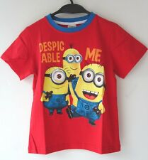 NEW KIDS BOYS GIRLS  DESPICABLE ME TEE TOP T-SHIRT SHIRT 120, 140  RED  X'MAS