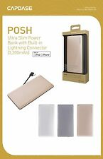 CAPDASE Ultra Slim 3200 mAh power bank with built-in lightning cable for iPhone