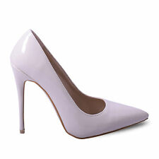Womens Nude Patent Pointed Classic party Court Shoe Ladies Stiletto Shoe Size