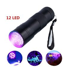 Ultra Violet 12/51 LED UV Torch Scorpion Detector Finder Blacklight Flashlight