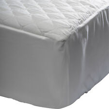 Mattress Protector Microfibre Quilted Waterproof White Bed Cover Fitted Skirt