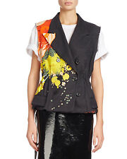 Dries Van Noten Baird Floral-Print Double-Breasted Vest $1665 save 30% $1165