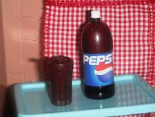 Barbie 2 Liter Bottle of Pepsi Cup fits Fisher Price Loving Family Dollhouse L2