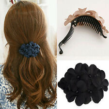 Women Bead Cute Flower Hair Clip Barrette Clamp Hairpin Hair Accessory Spirited