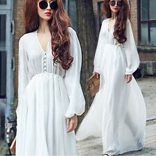 Women Summer Boho Long Maxi Evening Party Casual Beach Dress Vintage Sundress