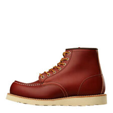 "New Mens Red Wing  Moc Toe Boots 6"" 8131 - Oro Russet Portage  100% Leather"