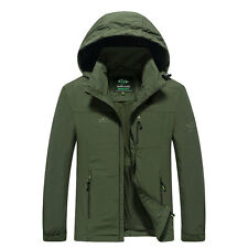 Mens Tactical Jacket Military Outdoor Camping Windbreak Army Winter Hooded Coat