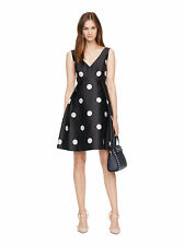 NWT Kate Spade Spotlight V-Neck Dress Ink Pink Polka Dots $448 – 10