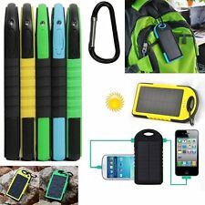 12000mAh Dual USB Solar Battery Portable Charger Power Bank For iPhone Samsung