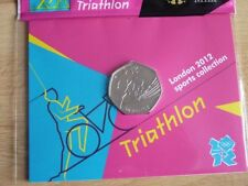 London 2012 Olympic Games. 50p Uncirculated Coins in Card