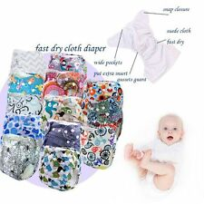 Reusable Infant Cloth Diapers Cover Washable Adjustable Baby Nappy