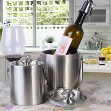 Stainless Steel Ice Bucket Holder Party Drinks Beer Wine Champagne Cooler 2L/3L
