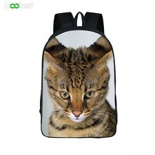 Animal Cat Travel Bag Backpack Kid Boy's School Bag Rucksack Teens Bookbag 16""