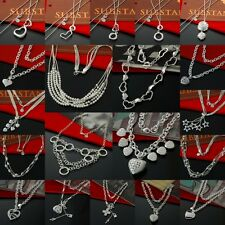 NEW Wholesale Lady Womens 925Silver Jewelry Pendant Necklace Chain Jewellery+box