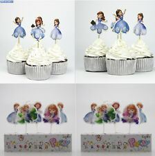 Princess Sofia The First Cupcake Cake Toppers Birthday Cake Candles Clover Amber