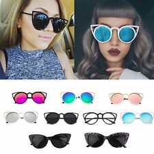 Fashion Women Cat Eye Sunglasses Stylish Design Popular Street Metal Frame WS