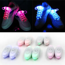 1 Pair LED Shoe Laces Flash Light Up Shoelaces Glow Stick Strap Shoelaces Disco