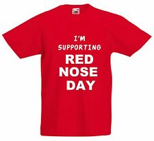 Red Nose Day 2017 Fancy Dress T Shirt Kids Red Top Donation to Comic Relief