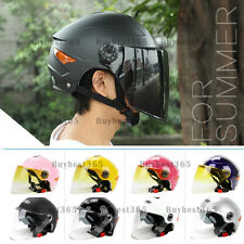 YOHE Motorcycle Open Face Half Summer Helmet w/ Full Face Dual shield Visor DOT